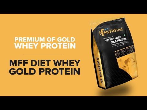 MyFitFuel Diet Whey Gold Protein | Complete Diet Protein | Fat Free | Energy Booster Advance Protein