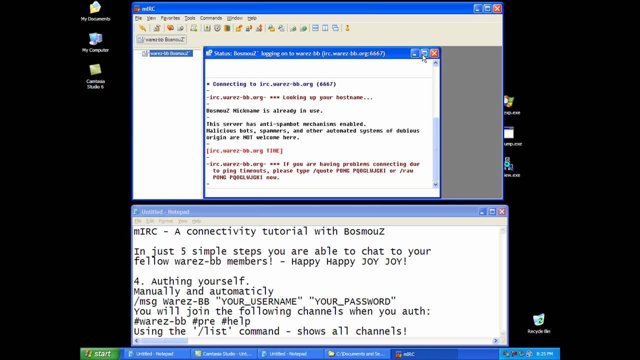 miRC tutorial warez-bb irc - YouTube