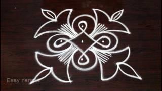 creative and beautiful rangoli designs with dots || kolam designs with dots || muggulu designs