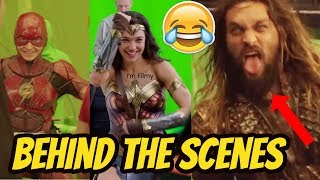 Justice League Exclusive Behind the Scenes & Bloopers Ft. Batman & Wonder Woman - 2017