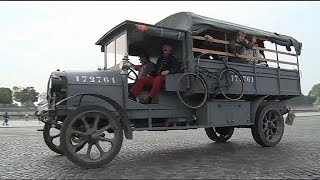Париж отметил столетие «марнского такси»(, 2014-09-08T06:32:23.000Z)