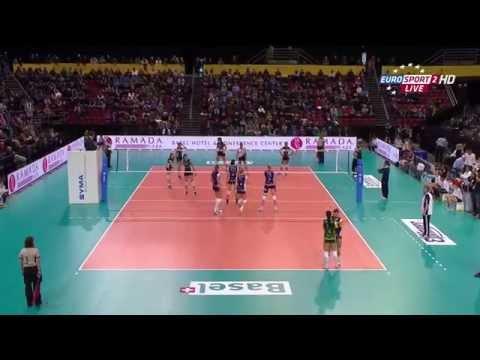 Volleyball. Volero Zurich - Partizan Vizura, Friendly Tournament in Basel