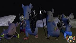Как мыши с кошкой воевали!