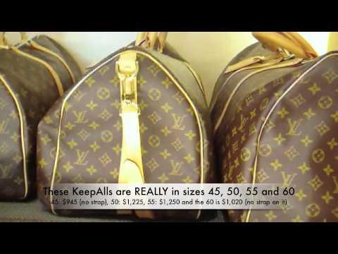 d6b6b8892ffe LOUIS VUITTON KEEPALL BAGS   PRICES (Spycam) - YouTube