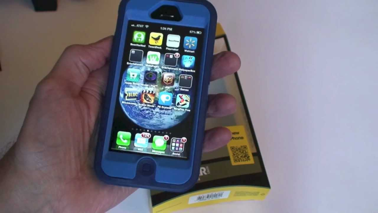 iphone 5 otterbox defender unboxing sky blue youtube