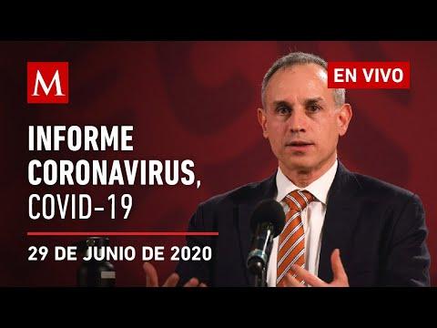 Informe diario por coronavirus en México, 29 de junio de 2020