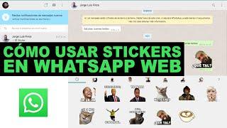 Como USAR TODOS LOS STICKERS del telefono en WhatsApp Web
