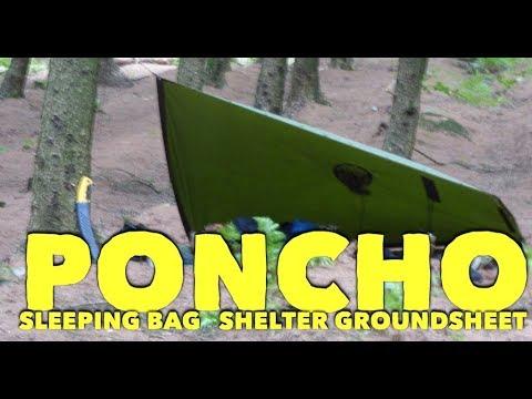 Poncho Sleeping Bag shelter and groundsheet
