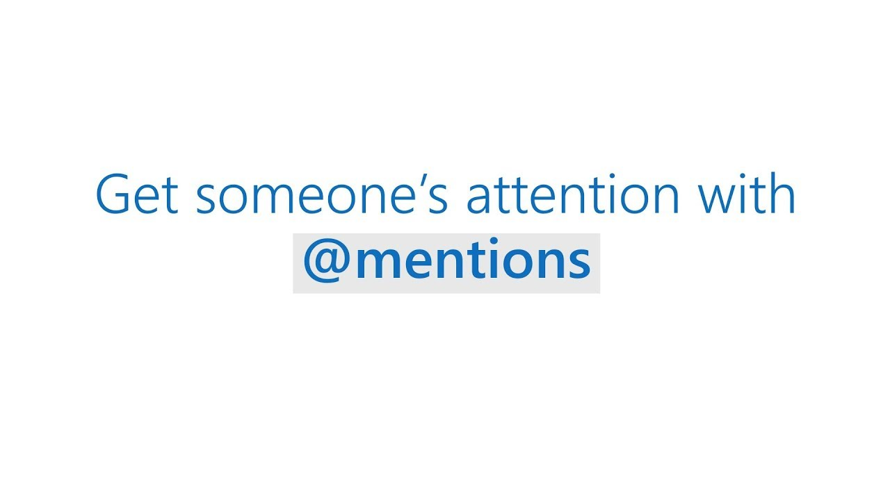 How to get someone's attention with @mentions in Microsoft Outlook
