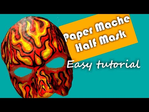 How to make a fitting Paper Mache Masquerade Mask- Easy Tutorial