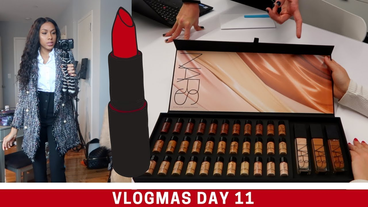 Working With Nars Cosmetics Vlogmas Day 11