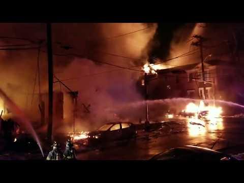 Fire Apocalypse Newark Nj Full City Block  Fully Involved (South 14th St) W/Audio P-1