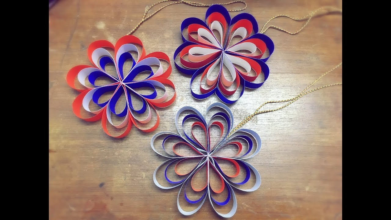How to Make A Hanging Paper Flower for Easy Party Decorations 4th