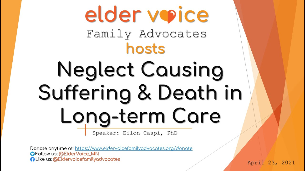 Watch Our Recent Webinar on Neglect Causing Suffering and Death in Long-term Care