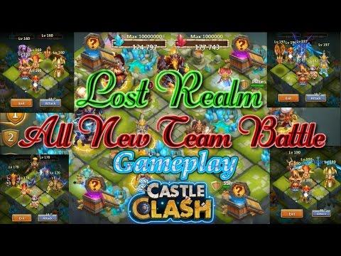 Castle Clash Lost Realm Gameplay_All Team Battle_ Nice Reward!!