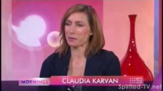 Claudia Karvan On Mornings Ch9, Feb 8 2012