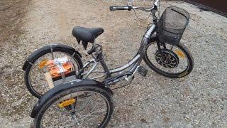 Супер трехколесный электро велосипед с мотор-колесом Magic Pie 3(Устройство трехколесного велосипеда с электромотором Magic Pie 3 от фирмы Golden Motors. Проверка ходовых качеств,..., 2016-04-11T08:25:46.000Z)
