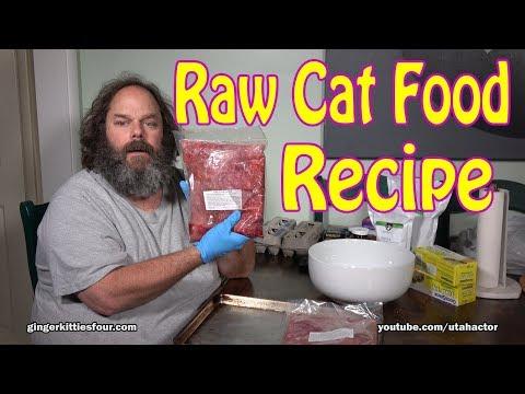 Cat Food: Healthy & Natural Raw Food Recipe