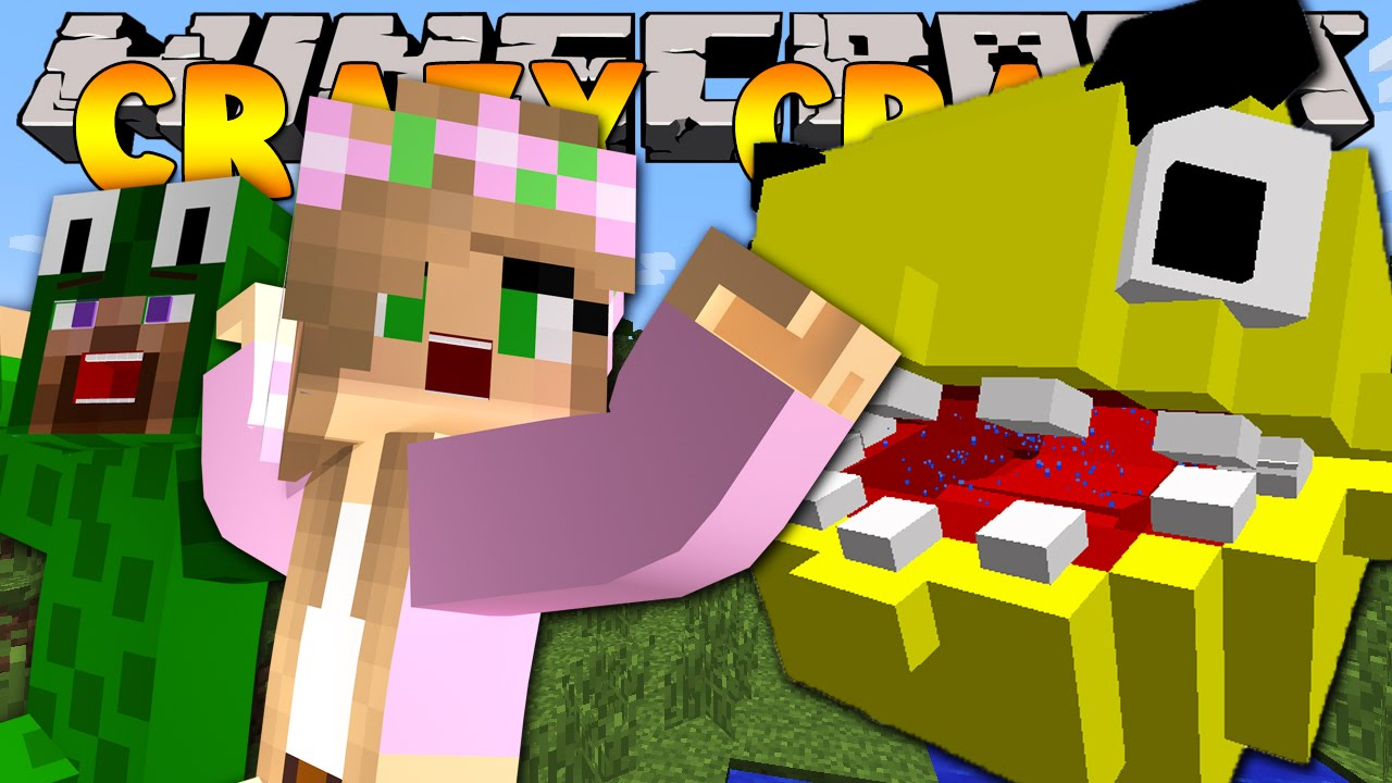 minecraft crazy craft 3 0 pacman attacks 1 youtube