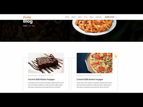 Foodin - Restaurant & Cafe Responsive HTML Template Review