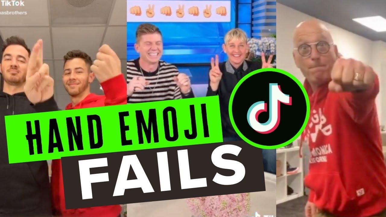 Hand emoji challenge tiktok 2020 hits - YouTube