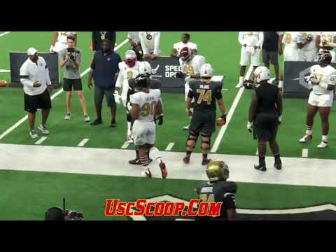 IN ACTION: 5-Star 2021 DE Korey Foreman at 2019 The Opening Finals (1on1)