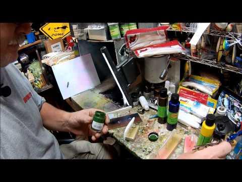 Painting Soft Plastic Baits 1