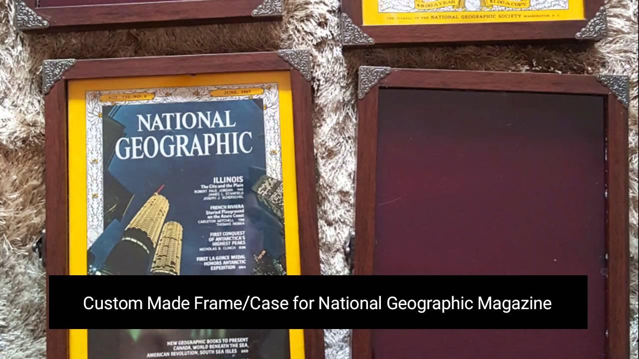 DIY National Geographic Magazine Frame/Case - YouTube