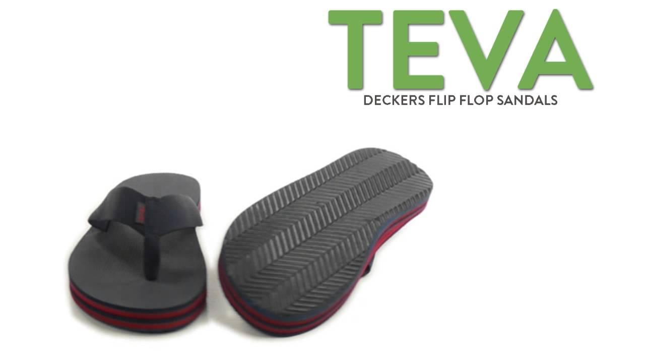 4bb986605 Teva Deckers Flip-Flops (For Men) - YouTube