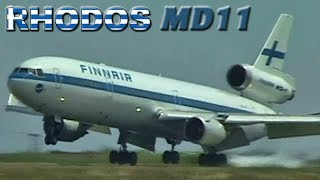 Finnair MD11 Landing & Takeoff in Greece (2001)