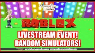 ROBLOX LIVESTREAM Random Simulators Night!
