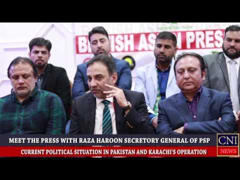 MEET THE PRESS WITH RAZA HAROON G.S.OF PSP AT ReVer INN B'HAM:CNI NEWS