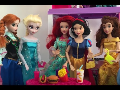Frozen Movie Full in English! Elsa + Anna Dolls Beach Vacation Ice cream Shopping Makeover Party!