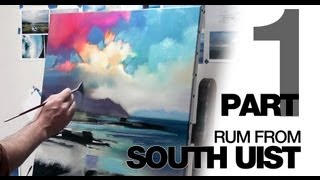 Oil Painting Demo: Rum From South Uist PART1