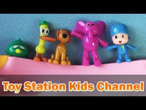 Five Little Pocoyo Jumping on the Bathtub #2 | Five Little Monkeys Jumping on the Bed Nursery Rhyme