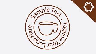 logo design illustrator - How to Make Vintage Cafe Coffee Cup Logo Design (Real Time)