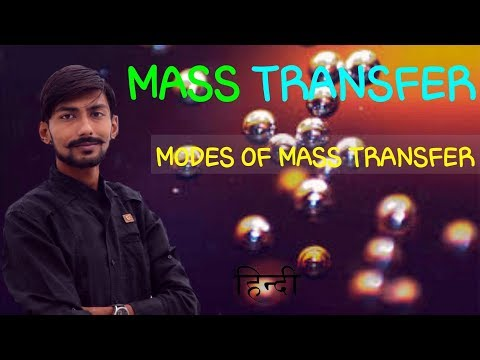 [HINDI] MASS TRANSFER | MODES OF MASS TRASFER ~ DIFFUSION , CONVECTION & CHANGE OF PHASE , WITH EX.