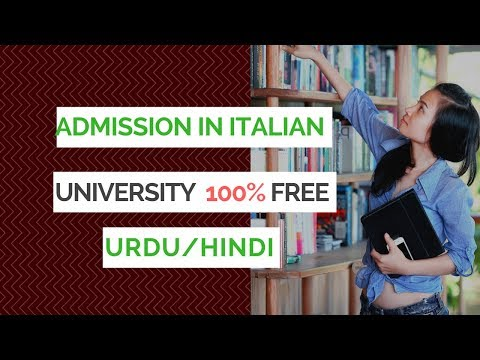 HOW TO GET ADMISSION IN ITALIAN UNIVERSITY FREE FULL PROCESS