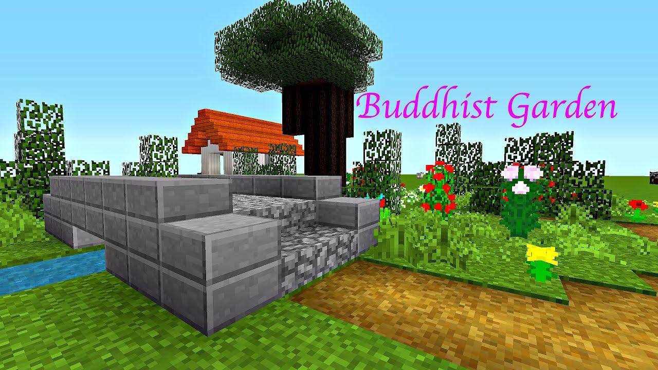 Minecraft 15 Minute Build Buddhist Garden Youtube