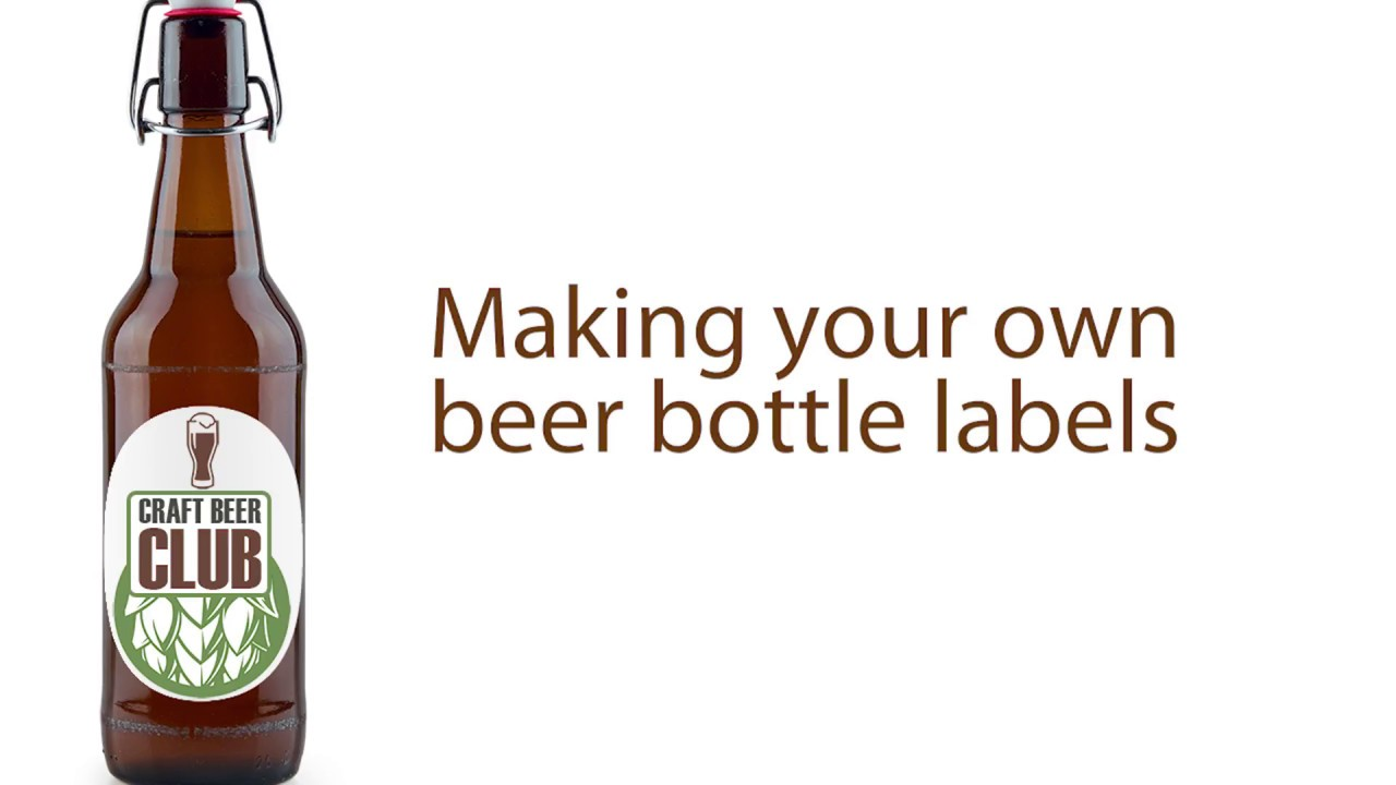 Making Your Own Free Beer Bottle Labels