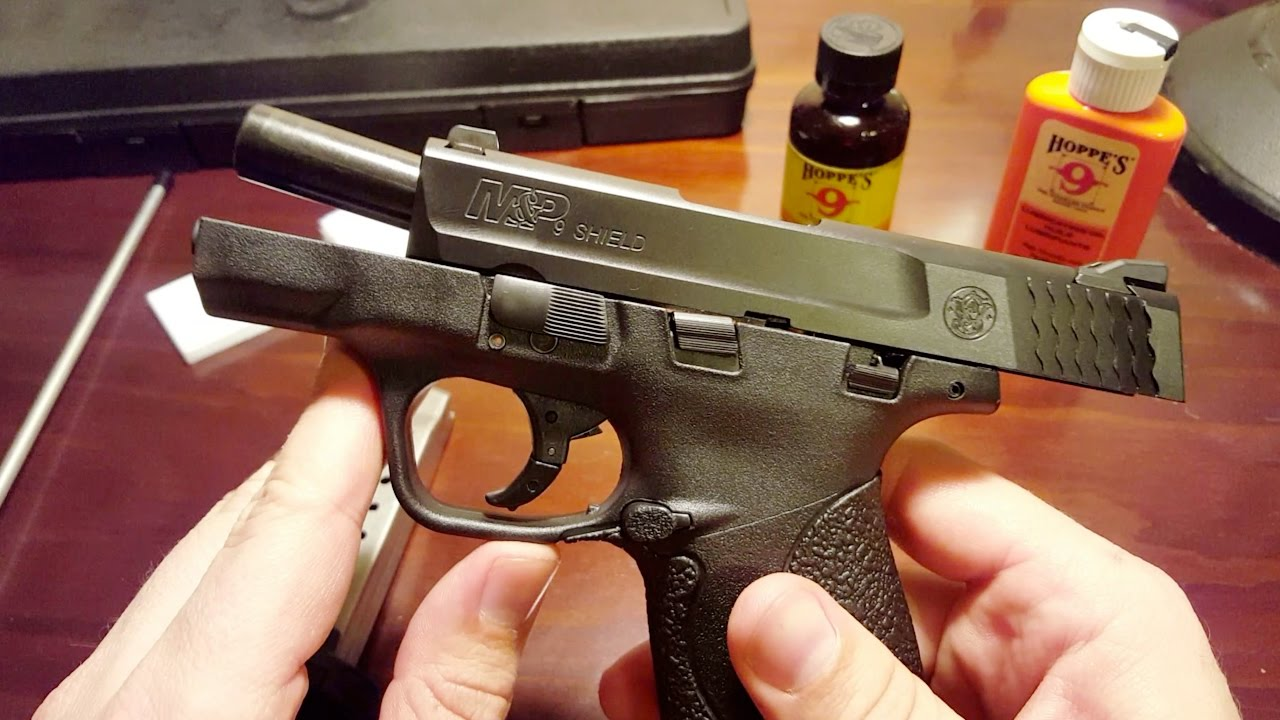 Cleaning A Smith Wesson Mp Shield 9mm Youtube