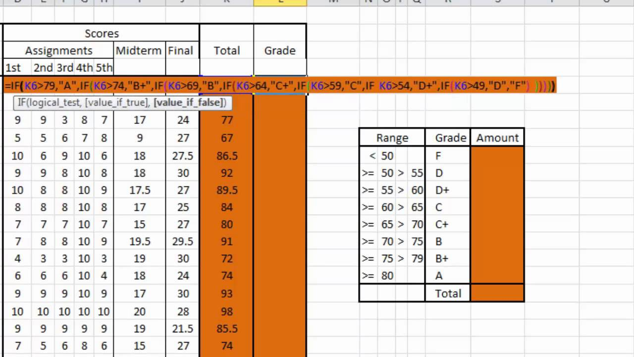 grade calculation spreadsheet
