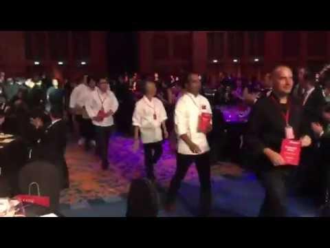 Michelin-starred chefs walking in