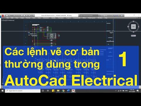 Các lệnh vẽ cơ bản thường dùng trong AutoCad Electrical (Phần 1)
