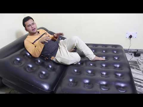 Bestway Air Sofa cum Bed 5 IN1 unboxing and review By star guruji