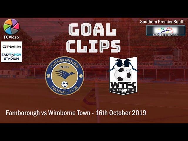 2019-10-16 | Farnborough vs Wimborne Town | Goals
