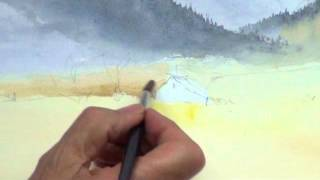 David Bellamy Watercolour Demonstration of The Brecon Beacons