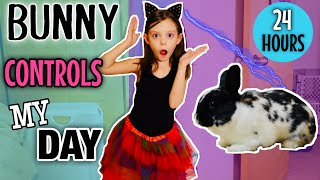 My BUNNY CONTROLS MY LIFE FOR A DAY! (24 hours Challenge). Funny Bunny Sunday #3