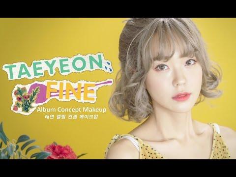 태연 'Fine' 앨범 자켓 컨셉 메이크업 Taeyeon 'Fine' Album Jackets Concept Make-up (with Subs) | Heizle