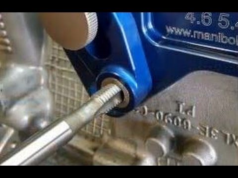 manibolt driller broken exhaust manifold bolt removal tool beydler s used on ford 5 4 cylinder head
